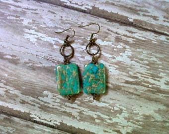 Aqua Blue Earrings (2202)