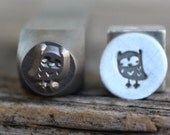 Owl-Metal Stamp-7mm Size-Steel Stamp-New Metal Design Stamps-by Metal Supply Chick
