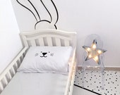 Nursery Wall Decal / Kids Décor / Bunny Wall Decal / Vinyl Wall Decals / Rabbit Wall Decal / Black and White Kids Room / Minimalist Room