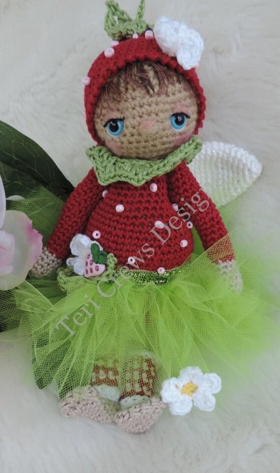 Cute Berry Fairy Doll Amigurumi by Teri Crews Designs
