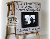Anniversary Gift, Wedding Gift, Wedding Sign, The First Time I Saw You, Personalized Frame, 16x16 The Sugared Plums Frames