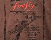 FIREFLY Shirt Unisex for Men & Women. Firefly Wild West WANTED POSTER Vintage Look. Browncoats want Serenity Crew back. Great for Comicon!