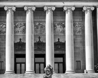 Kansas City Nelson Atkins Art Museum - The Thinker Statue - Rodin Fine Art Photograph Landmark