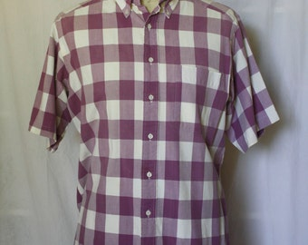 Men's Lavender Large Plaid Shirt