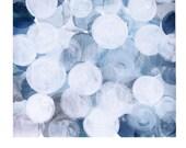 Blue bubbles watercolor print watercolor print,  blue white dots