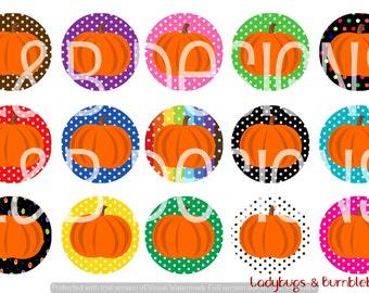 "1"" Bottle Cap Image Sheet - Editable Pumpkins"