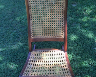 Antique Rocker, Sewing Rocker, Walnut,Caned, Carved, Caned Back and Seat, Antique Chair