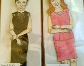 Custom Couple Paper Dolls