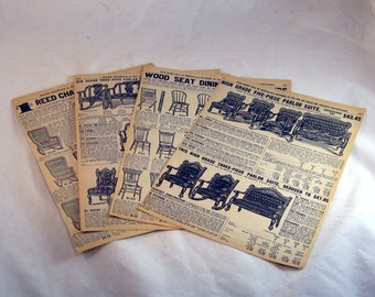 Sears Catalog Cir 1900 Chairs Rockers Baby Carriages 4 Pages
