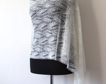 lace bridal shawl, delicate wedding stole, bridal cover up, Estonian lace, custom colors, MADE TO ORDER