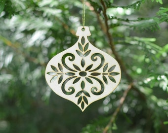 Natural Wood Bulb Ornament --CLOSE OUT (special price)