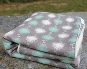 Beautiful Organic Sherpa Baby Blanket | Grey Baby Blanket | Organic Heirloom Blanket | Boutique Blanket | OOAK Organic Blanket