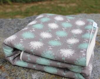 Organic Sherpa Baby Blanket - Grey Baby Blanket - Organic Heirloom Blanket