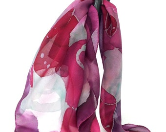 Bandana scarf Silk pocket square Silk scarf Pink silk scarf Circle scarf Indian silk scarf Best selling items Unique gifts Handmade gifts