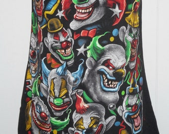 INSANE CLOWN POSSEE Horrorcore hip hop strapless Black tube  Upcycled repurposed T Shirt S - M