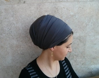 Handmade Lycra, one wrap Tichel, Jewish head covering, very simple wrapping technique by oshratdesignz