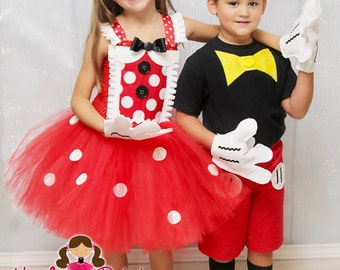 Minnie Mouse Costume- Minnie Mouse Dress- Mickey and Minnie costume- Disney- Minnie Mouse- 1st Birthday..halloween costume SZ 5,6,7