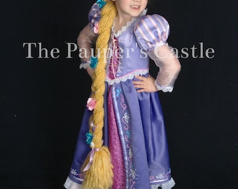 Disney Rapunzel / Tangled Costume / Dress/Girls/Child's