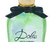Dolce & Gabbana Perfume Watercolor Print - 5 in. x 7 in.