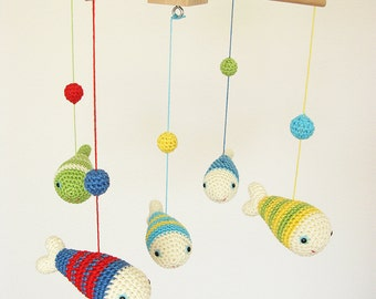 Nautical Nursery Decor, Colorful Baby Mobile, Baby Shower Gift, Ocean Sea Fish Nursery Mobile