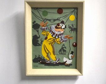 1960s Circus Clown PBN