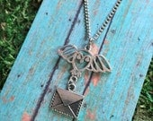 Owl Post Necklace -- Harry Potter - Hedwig