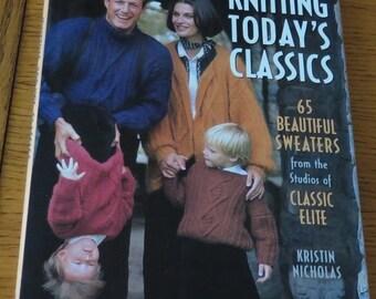 Book - Knitting Today's Classics - 65 Beautiful Sweaters - Books