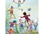 Faerie Greeting Card - Fairy Orchestra - Art Outside and In - Repro Tarrant