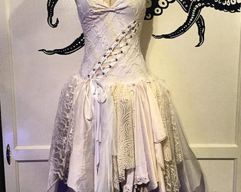 Fairy Wedding Dress - White Meadow Dress - ON SALE!