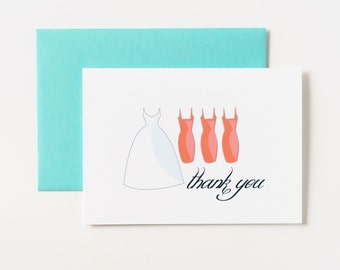 Bridesmaid Thank You or Please Say Yes Greeting Card