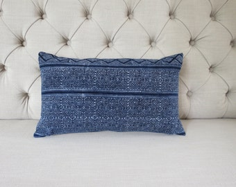 Vintage batik Hmong cushion cover, Cotton Fabric,lumbar cushion,scatter cushions,