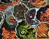 FEATURE CREATURES Series 5 - Cult Horror Sticker 8-Pack