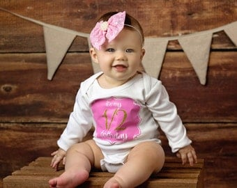 It's My 1/2 Birthday! Bodysuit Baby Girl - Made To Order - Choose Your Colors!