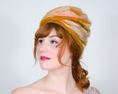 1960s vintage hat / designer turban / Christian Dior