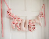 Ruby - Personalized Baby name wall hanging. Pink strawberries. New baby girl Christening gift, baby shower, baby Christmas Gift, nursery.