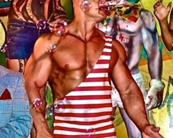 Strongman Costume Single Shoulder Men's Wrestling Singlet