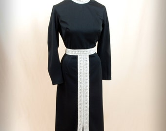 Egyptian Dress * Black and Silver Maxi Dress * Black Maxi Dress * 60s Dress * 1960s Dress * 60s Maxi Dress * Retro Dress