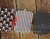 Photo Banner- Pirate -1st Birthday -Baby Shower -Red Black -Personalized -Monthly Photo Banner -Made to Match -Photo Prop -Party Banner