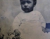 Antique Tin Type of an African American Child Baby Negro Tintype Old and Vintage Civil War Era
