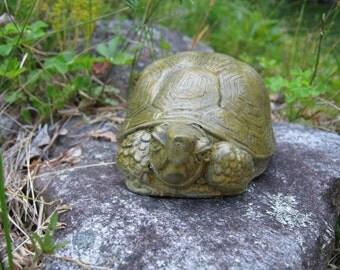 Turtle, Small Turtle Statue, Garden Turtle, Garden Decor, Concrete Turtles, Cement Painted Turtle, Turtle Figure, Tortoise Or Turtle?