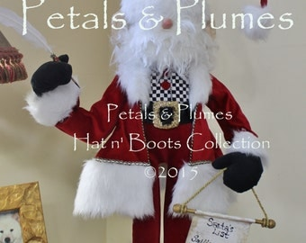 """PRE-ORDER for """"2017""""Delivery-Christmas Santa Claus Character Stand -Petals & Plumes Original Design©- (2016 Orders Sold Out) 36"""" Tall"""