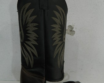 Flip flop boots made to order to your size made of genuine leather tops and sole