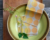 Linen Cocktail Napkins - Signals in Maize/Ochre