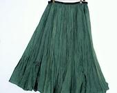 Boho Silk Maxi Skirt Small,Medium, Large, XL 1x 2x 3x 4x