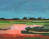 "Fine Art PRINT, Abstract Landscape 7x5"""