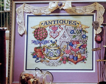 Counted Cross Stitch Pattern ANTIQUES - fam