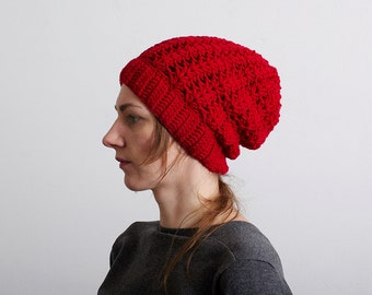 Winter hat Crochet Hat Women crochet beanie hat, Winter hat for Women, Women shell beanie, Winter crochet hat womens, red crochet hat