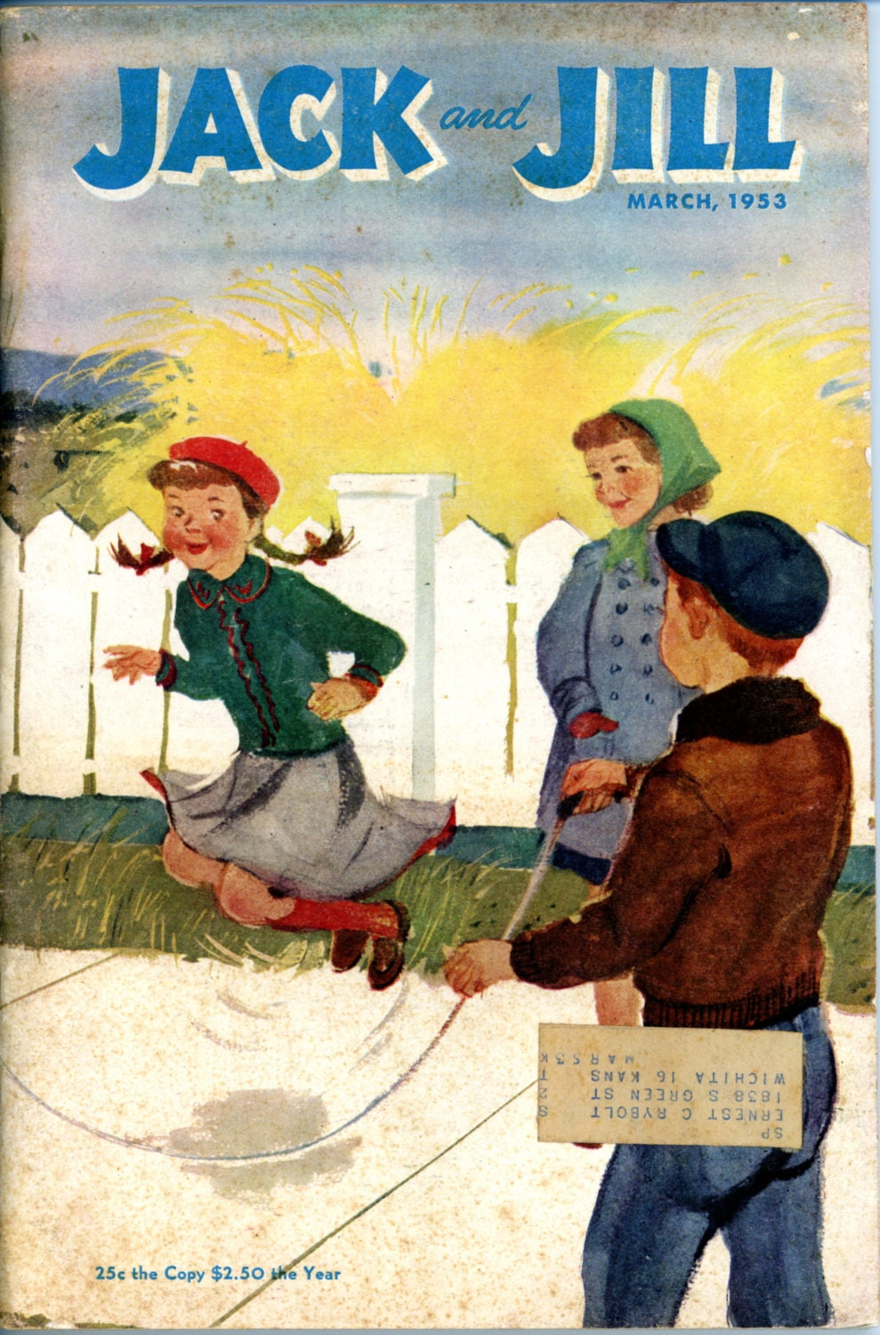 Children 39 S Magazine Jack And Jill March 1953 Games