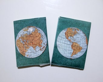 World Map Passport Cover - Passport case with a print of an ancient map of the world