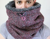 Faux fur cowl scarf, womens scarf, Snock®, womens cowl, cowl hood, hooded cowl